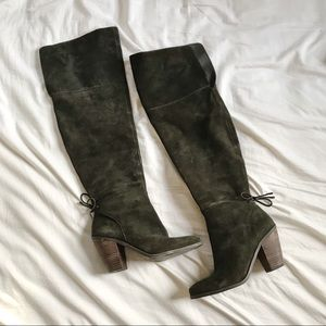 Gray Jessica Simpson Knee High Heeled Boots